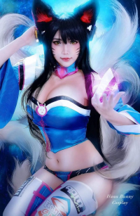 Hana's Cosplay as Ahri/D.Va