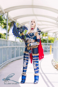 Quinzel Cosplay as Blood Elf/Death Knight