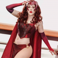 Crumpets Cosplay as Scarlet Witch