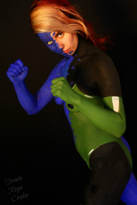 Northern Belle as Rogue/Mystique