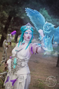 Pink Star Cosplay as Tyrande Whisperwind