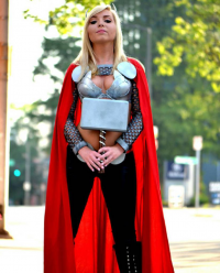 Kayla Ezell Cosplay as Thor