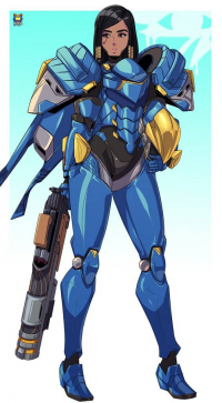 Pharah from Kyoffie Ilustrator