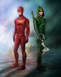 Green Arrow, The Flash from Daniel Kordek