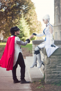 Arcadia Cosplayuk as Qrow Branwen, unknown artist as Winter Schnee