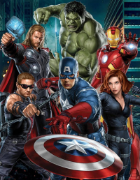 Thor, Iron Man, Captain America, Black Widow from James Rodriguez