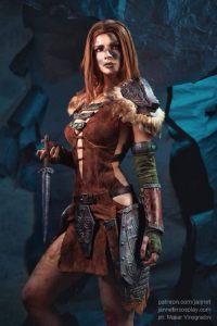 Jannet Rudakova as Aela the Huntress
