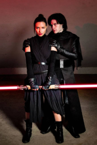 Sylar & Sheila as Kylo Ren, unknown artist as Rey/Sith