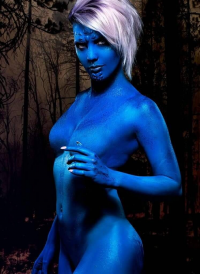 Bad Luck Kitty as Mystique