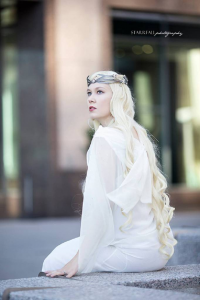 Mikomis Costumed World as Galadriel