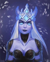 Draenei/Death Knight from lowly-owly