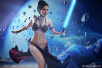 Morgana Cosplay as Leia Organa/Slave