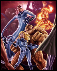 Reed Richards, Johnny Storm, Sue Storm, The Thing from ArcosArt