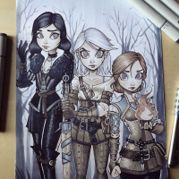 Triss Merigold, Yennefer, Ciri from Chrissie Zullo