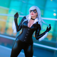 Unknown Female Artist as Black Cat