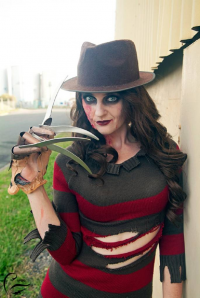Ana Swan Cosplay as Freddy Krueger
