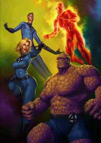 Reed Richards, Johnny Storm, Sue Storm, The Thing from Carlos Valenzuela