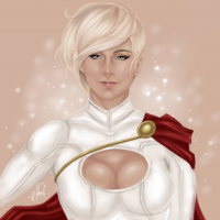 Power Girl from Draconis-Silver