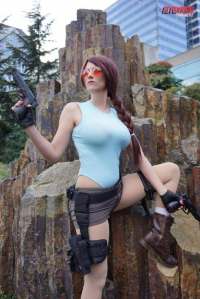 Az Powergirl as Lara Croft