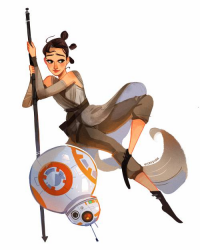 Rey, BB-8 from Vickisigh