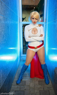 Luri Nahls Cosplay as Power Girl