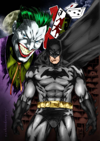 Batman, The Joker from archaeopteryx14