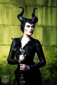 Actress Christiana as Maleficent