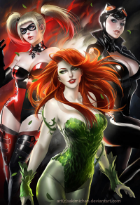 Harley Quinn, Catwoman, Poison Ivy from Sakimi Chan