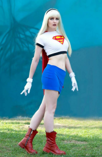 Maid of Might Cosplay as Supergirl
