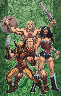 Wolverine, He-Man, Wonder Woman from Kevin Sharpe