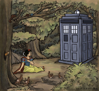 Snow White, TARDIS from Karen Hallion