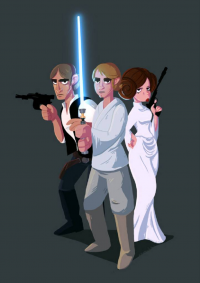 Han Solo, Luke Skywalker, Leia Organa from Vijolea
