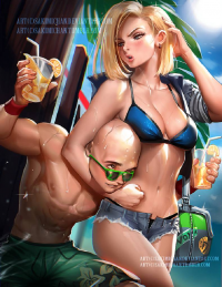 Krillin, Android 18 from Sakimi Chan