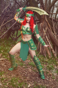 Candy Valentina as Poison Ivy/Battle Armor