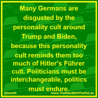 Many Germans are disgusted by the personality cult around Trump and Biden