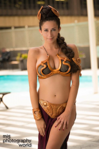 Kitty Solo as Leia Organa/Slave