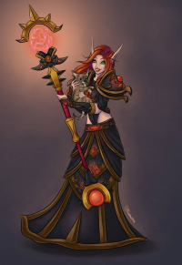 Blood Elf/Mage from Faebelina