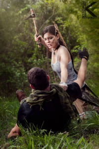 Victoria Vaughn Cosplay as Lara Croft
