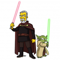 Count Dooku/The Simpsons, Yoda/The Simpsons from Adrien Noterdaem