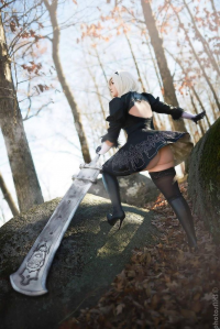 Lilukun Cosplay as 2B