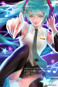 Miku Hatsune from Customwaifus