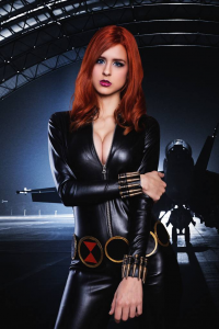 Juby Headshot as Black Widow
