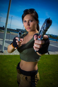 Aurore Dimopoulos as Lara Croft