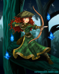 Princess Merida/Freedom Fighter from Robby Cook