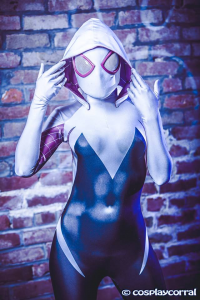 Maid Of Might Cosplay as Spider Gwen