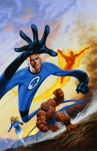 Reed Richards, Johnny Storm, Sue Storm, The Thing from Joe Jusko