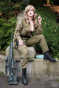 BombChelle Cosplay as Sniper Wolf