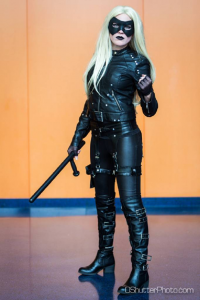 Comic Girl Cosplay as Black Canary