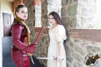 Princess Nightmare as Kahlan, Mistress Jessie as Denna