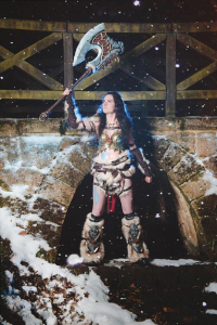 Lady Arthas Cosplay as Barbarian